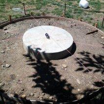 The pedestal poured dead center