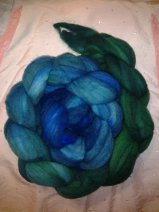 """Forested Skyline"" 4 ounces Faux Cashmere (machine washable & dryable) $24.00"
