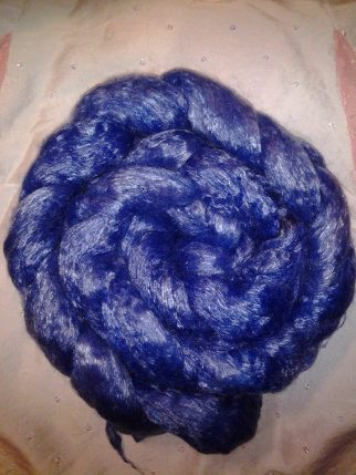 """Madam Blueberry"" 4 ounces merino & tencel 50/50 blend $20.00"