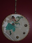 Quilted and embroidered Steampunk Faerie art