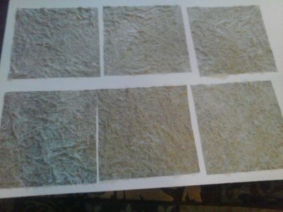 close up of drying tiles
